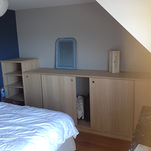 Agencement chambre chene