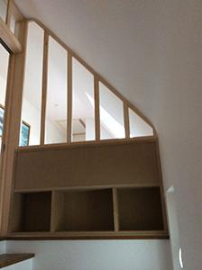 Séparation vitrée escalier
